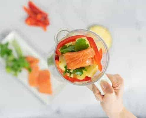 Salmon puree