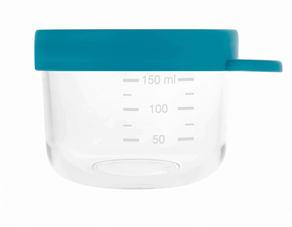 Glass Silicone Container peacock