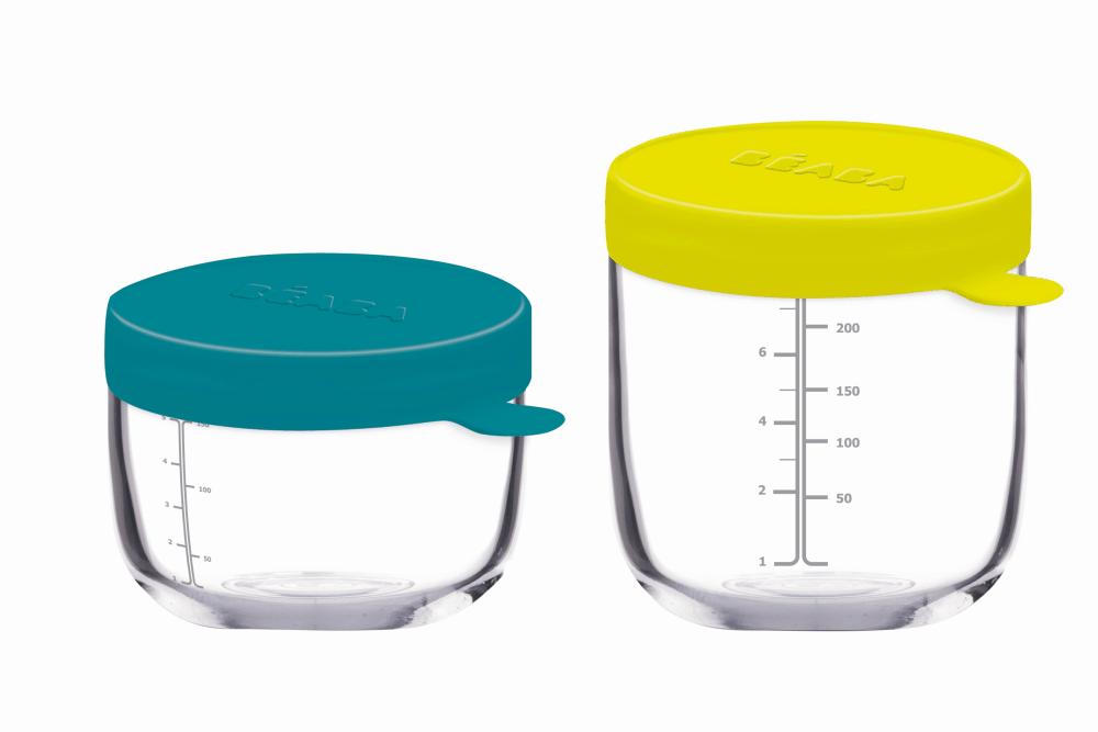 Glass Silicone Container Set