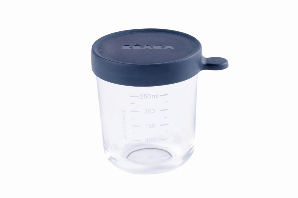 Glass Silicone Container Navy