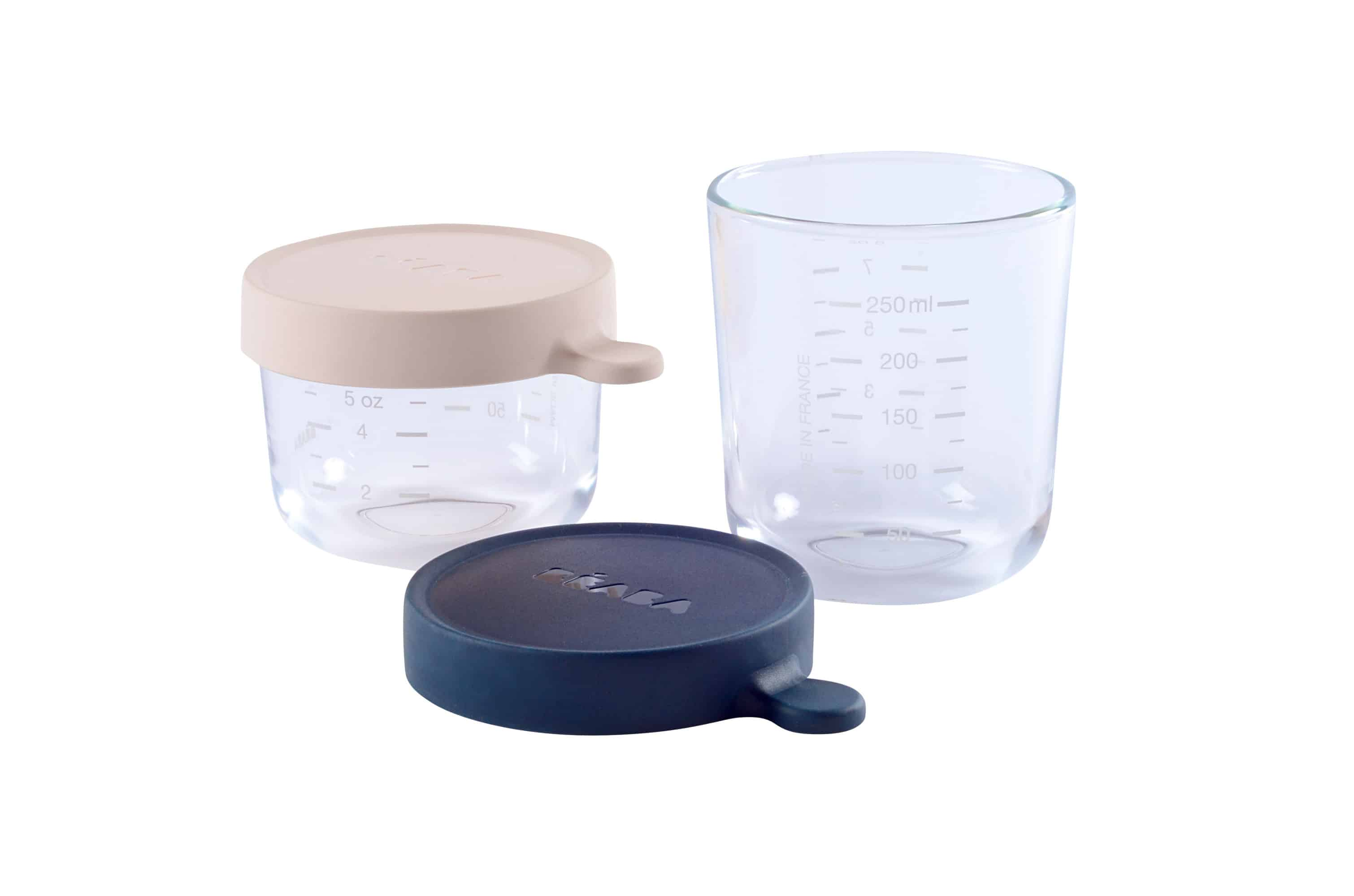 af3a3be1f87b Béaba Glass & Silicone Containers - Set of 2 (5 oz and 8 oz) Pink/Dark Blue