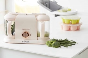 BEABA babycook duo rose gold in kitchen