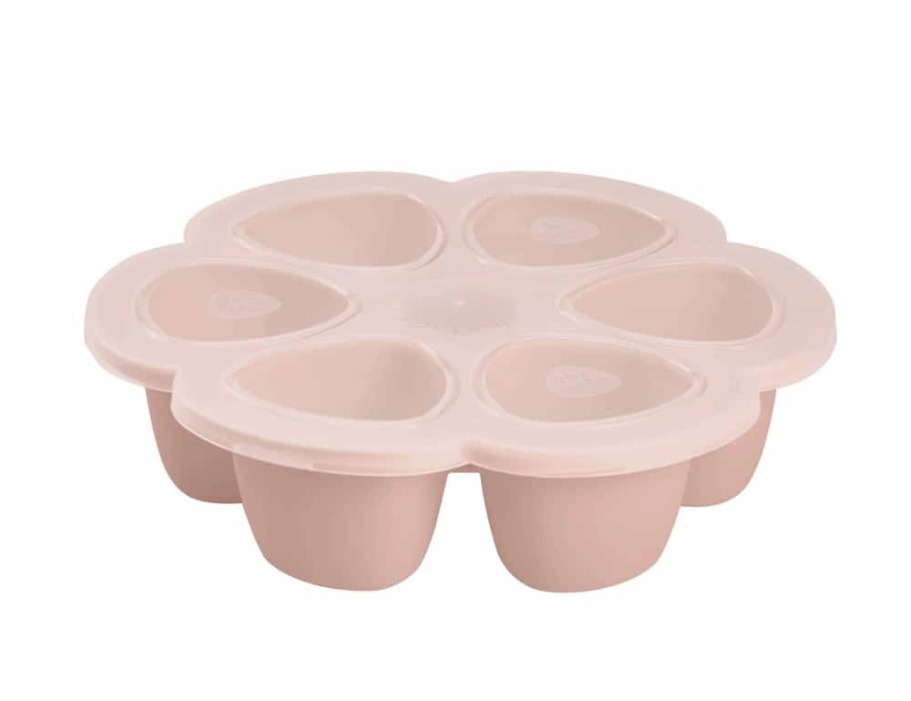 Beaba multiportions in rose with lid