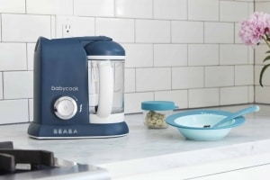 BEABA Babycook Navy on kitchen counter