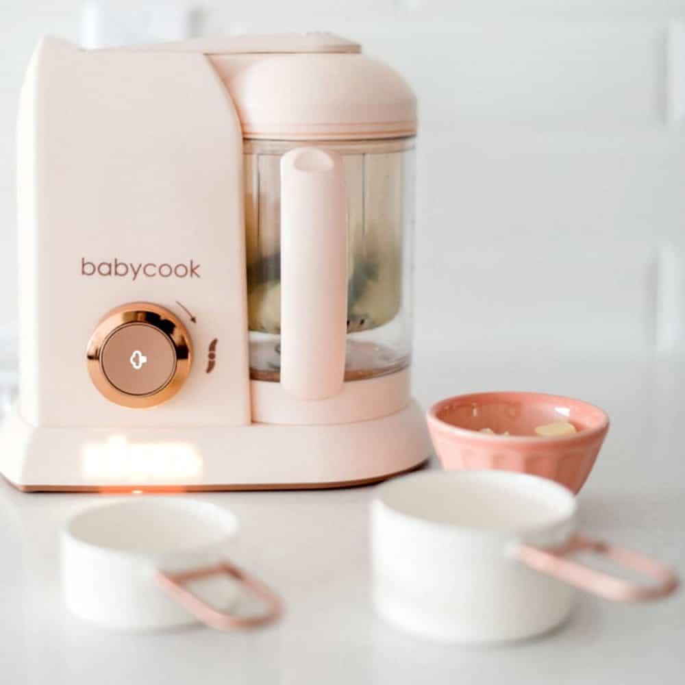 babycook rose gold steaming