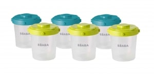 Beaba 7 oz Clip Containers in peacock