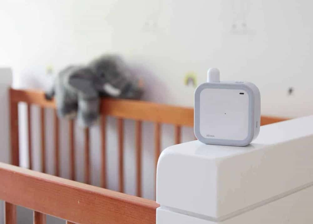 Beaba Minicall Baby Monitor in crib