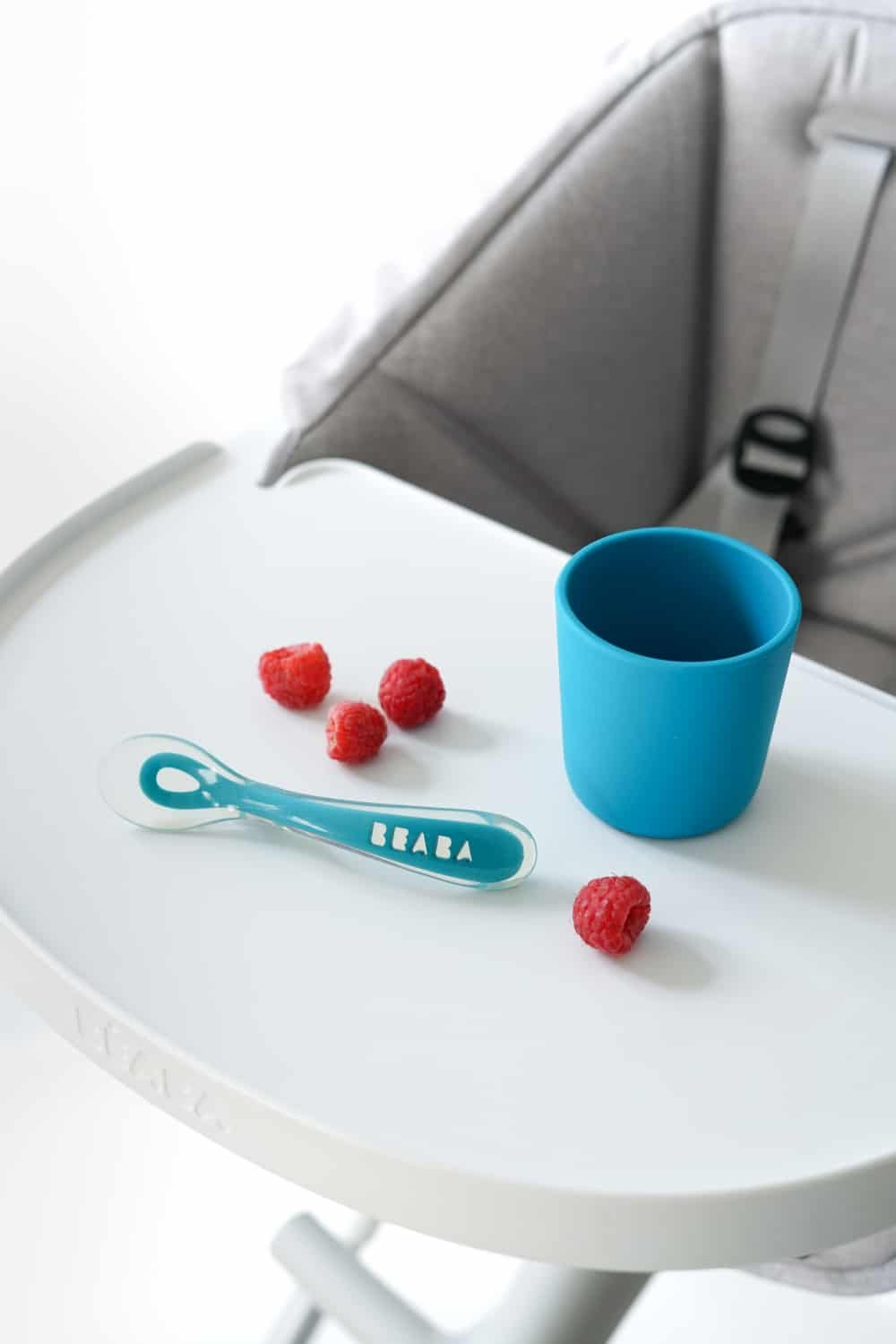 Beaba Non-slip silicone cup with spoon