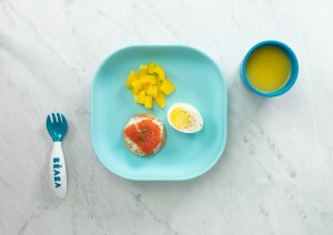 beaba silicone suction plate with breakfast