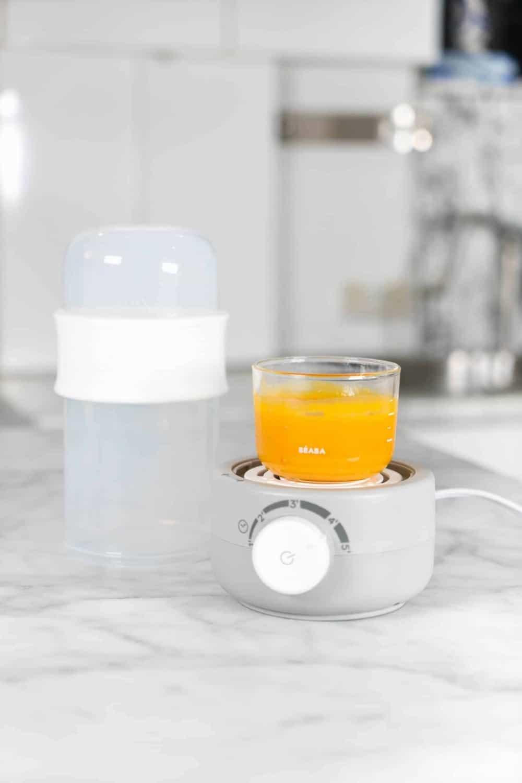 Beaba Babymilk Bottle Warmer Neon Heating Up Squash Puree