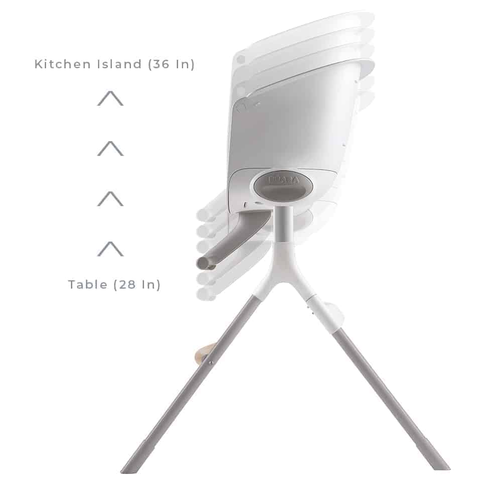 BEABA Up & Down High Chair 28 inches to 36 inches