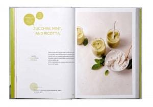 Zucchini mint and ricotta