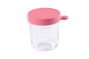 Beaba Glass Silicone Container Berry 8 oz