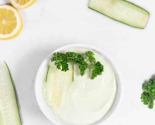 cucumber tahini dip