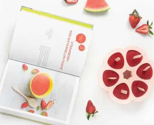 watermelon strawberry frappe