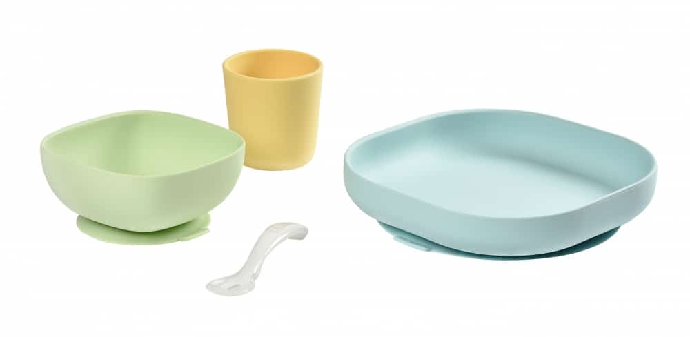 Beaba suction meal set in pastel