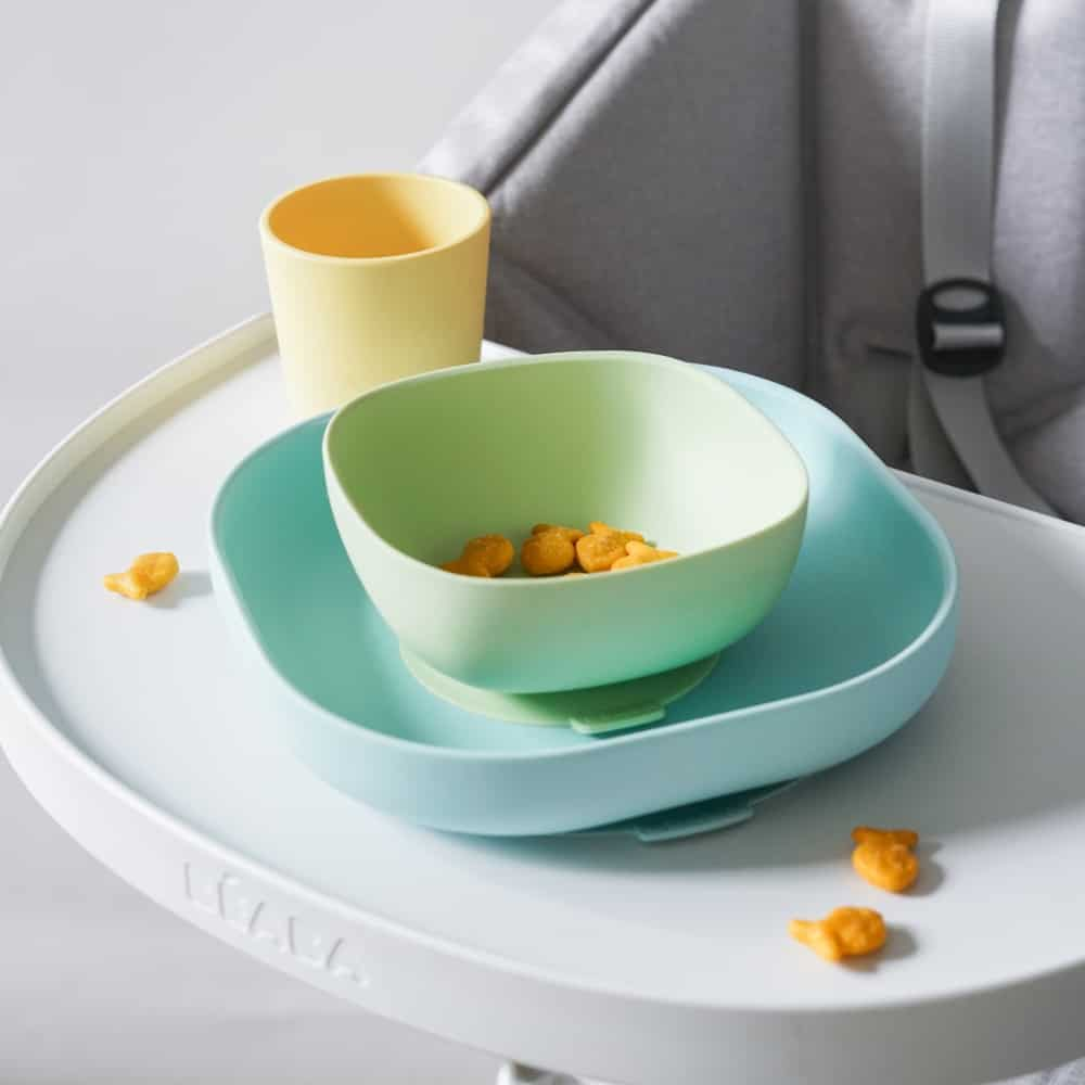 Beaba Silicone Meal Set in Pastel with Goldfish