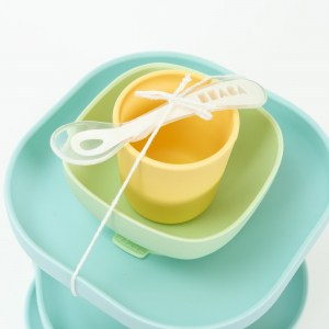 Silicone suction meal set pastel