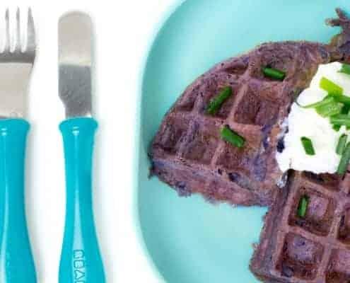 Purple Potato Waffle