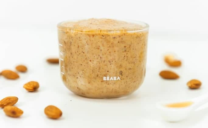 Almond butter in Beaba Glass Container