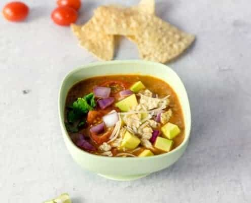 Baby's Tortilla Soup in Silicone Bowl