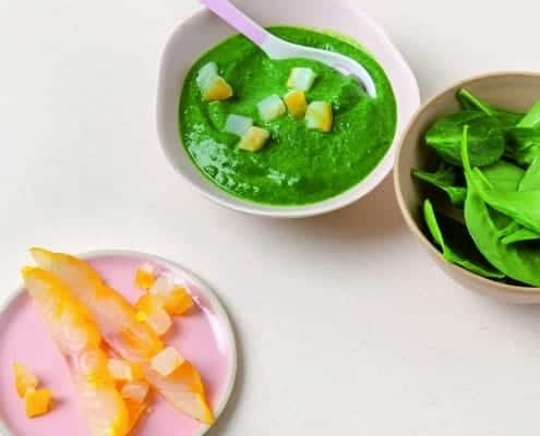 Spinach and Haddock Puree