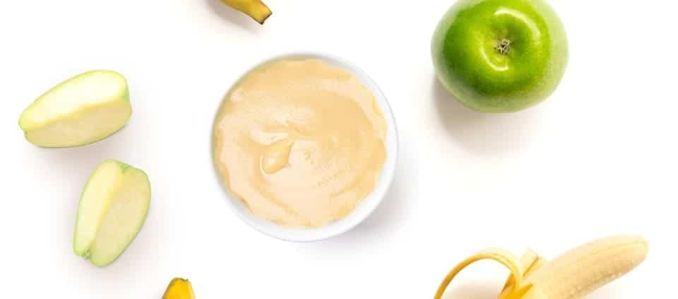 resep mpasi banana apple puree