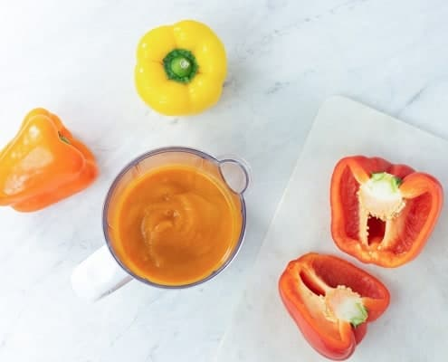 Chicken and Bell Pepper Puree in Babycook Bowl