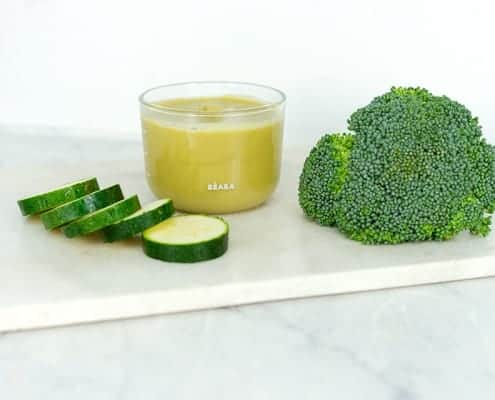 Lemon Broccoli Zucchini Puree