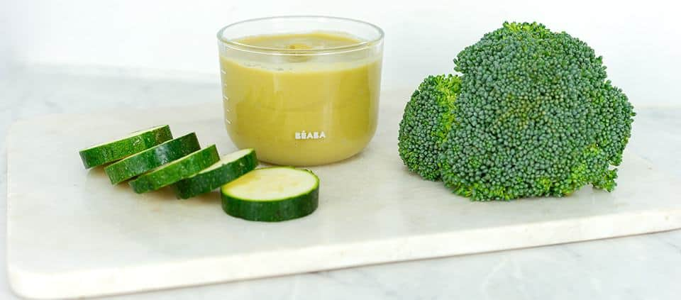 Lemon Broccoli Zucchini Puree
