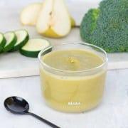 Zucchini Apple Broccoli Puree