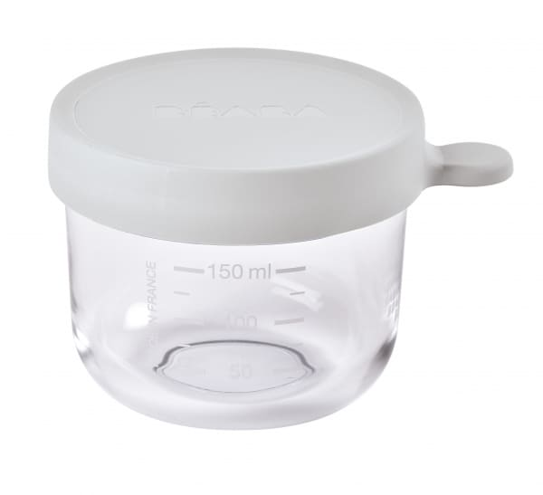 Béaba Glass & Silicone Container 5oz - Cloud