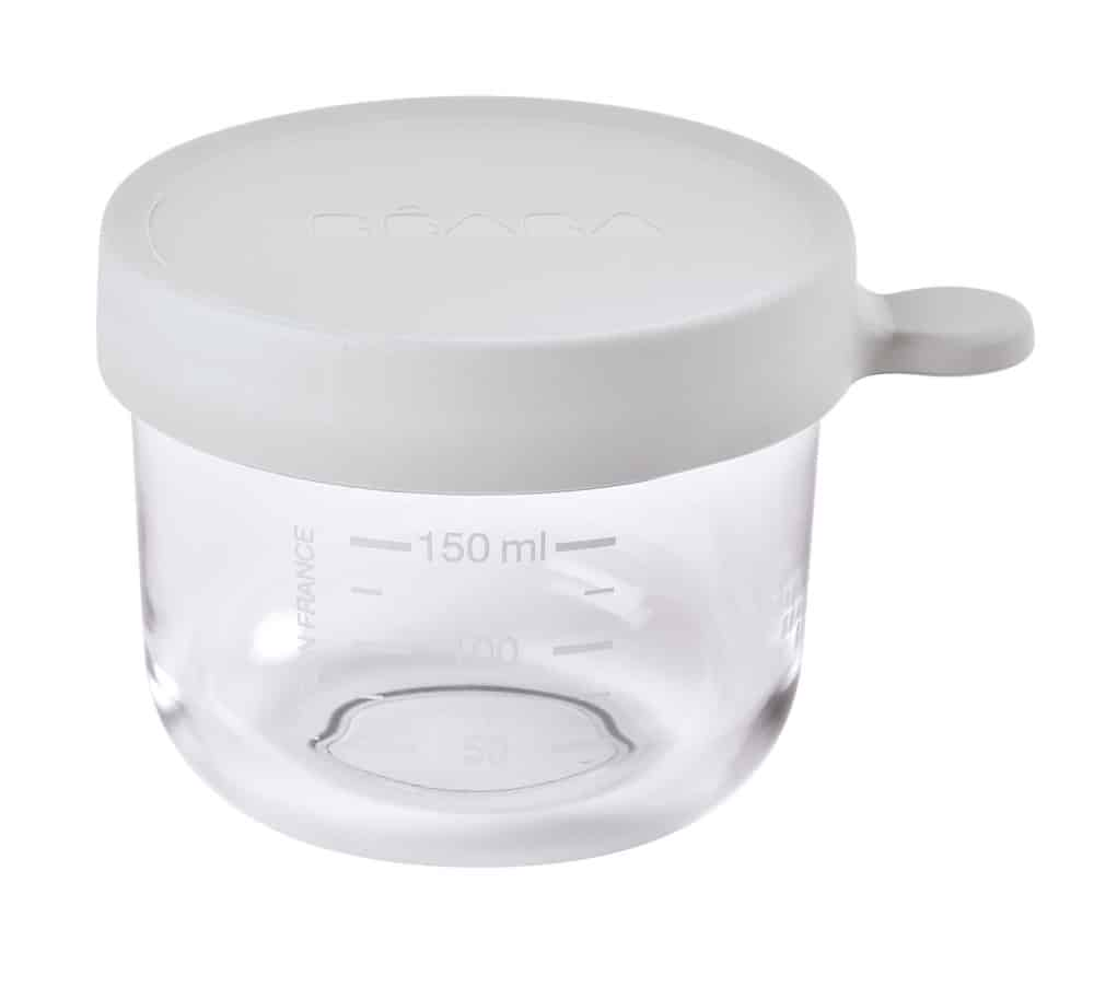 Beaba glass and silicone Container in Cloud 5 oz