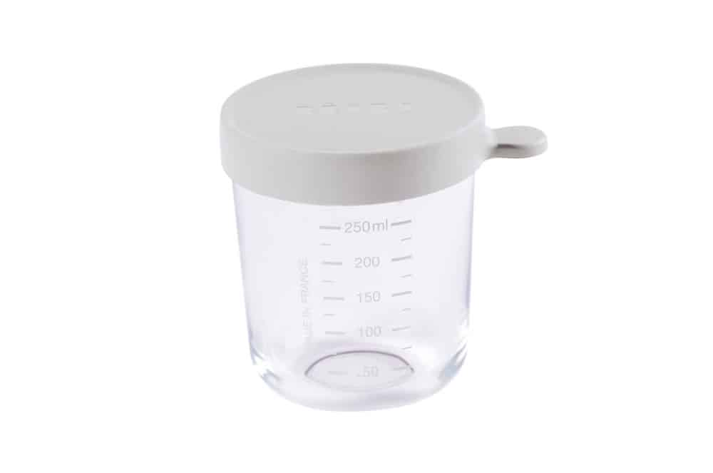 Beaba Glass & Silicone Container in Cloud 8 oz