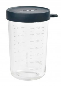 Beaba glass and Silicone Container in midnight 14 oz