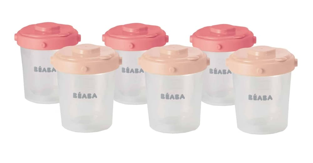Beaba clip containers in Rose