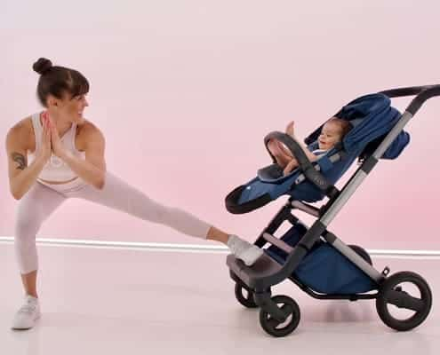 Melody Davi working out with Baby