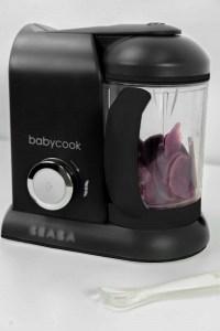 BEABA Babycook Black with Purple Potatoes