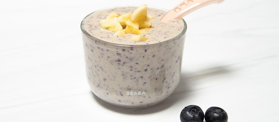 Baby's Blueberry Banana Yogurt Puree