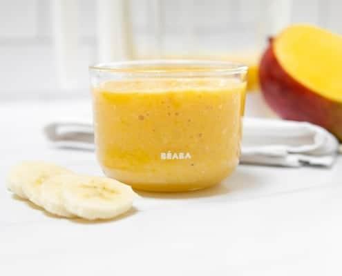 Mango Banana Coconut Milk Puree