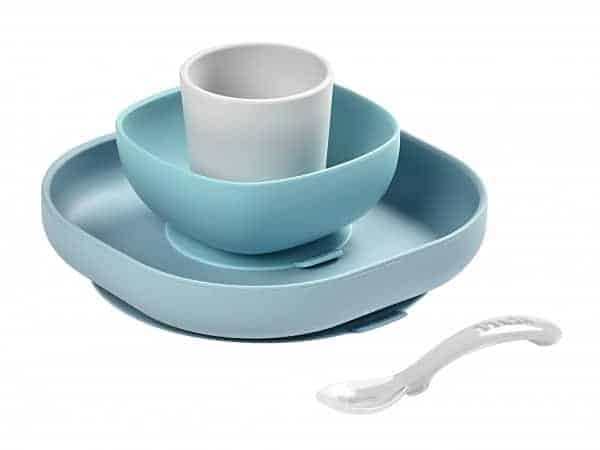 Silicone BEABA Suction Meal Set - Rain