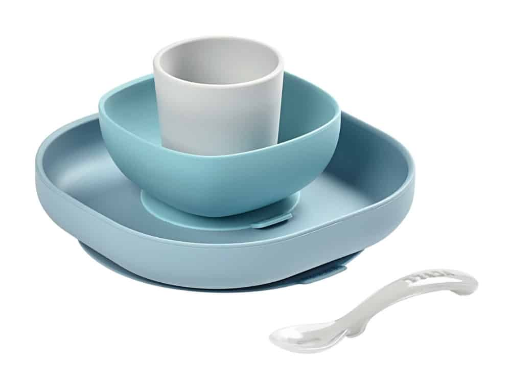 Beaba Silicone Suction Meal Set in Rain