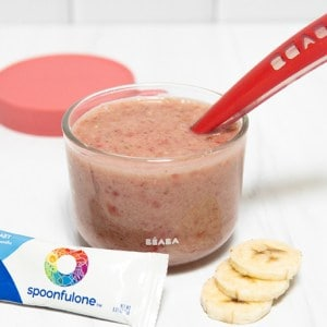Raspberry Banana Breastmilk Puree ft. SpoonfulOne