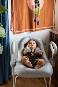 Baby in Beaba Up & Down High Chair
