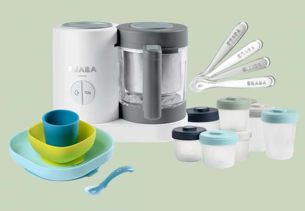 Beaba Chef Set in Cloud on Green Background