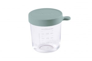 Beaba glass and Silicone Container in Eucalyptus 8 oz