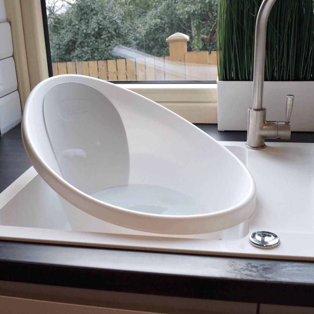 Shnuggle Bath in kitchen sink