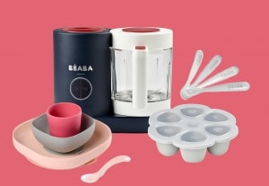 BEABA chef set in french touch on pink
