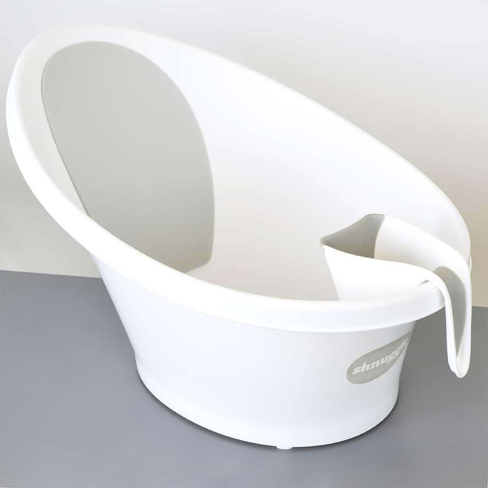 Beaba by Shnuggle Washy Cup sitting on Baby Bath