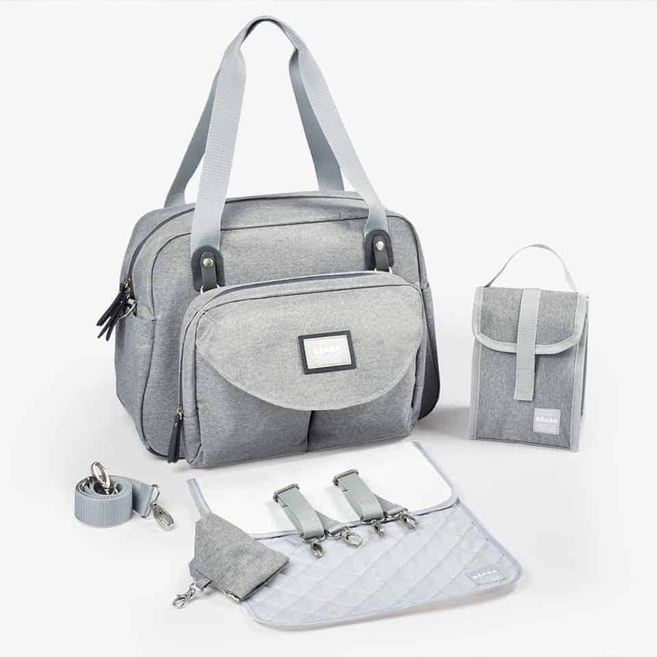 diaper bag in grey